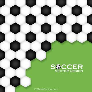 Abstract Soccer Ball Pattern Background Design