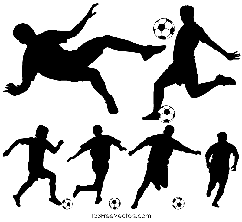 Soccer Player Silhouette Clipart Images