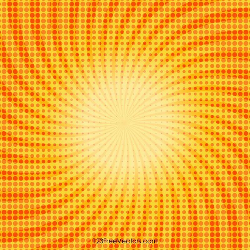Yellow Halftone Dots Background