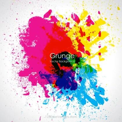 Colorful Grunge Splatter Background Image