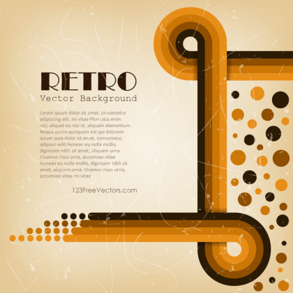 Abstract Retro Lines Background Vector Graphics