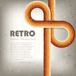 Retro Lines Abstract Background Vector