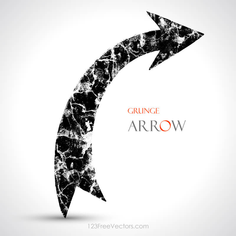 Grunge Arrow Vector Download