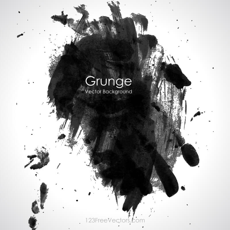 Paint Stain Black Grunge Background