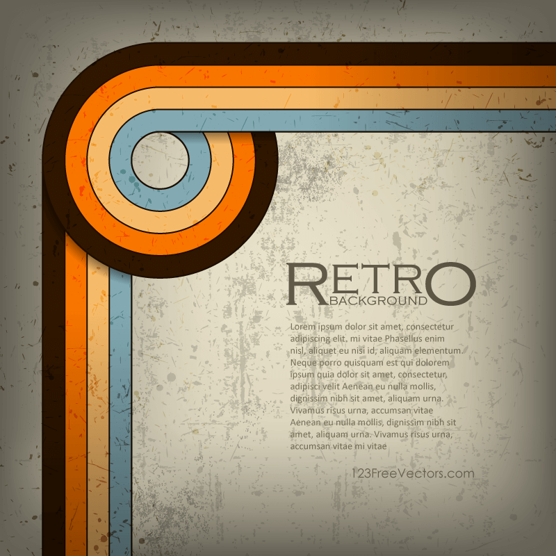 Abstract Retro Grunge Lines Background