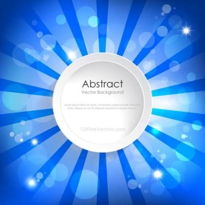 Abstract Blue Sunburst Banner Background Design
