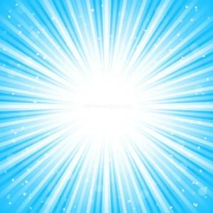 Abstract Blue Sunburst Background