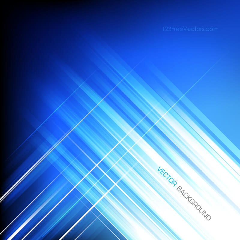 Blue Abstract Straight Lines Vector Background Image