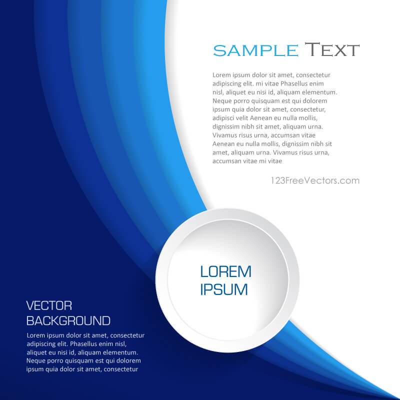 Abstract Blue Background Design Template Vector