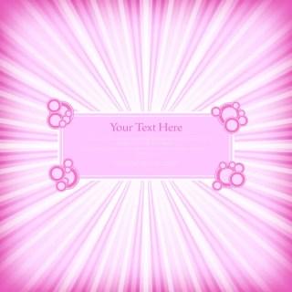 Pink Sunburst Background
