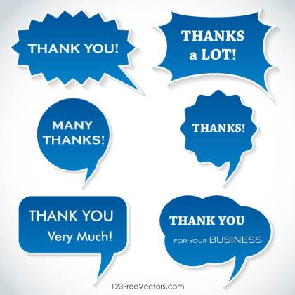 Thank You Speech Bubbles Free Vector
