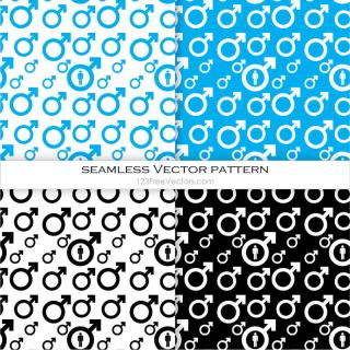 Male Symbol Seamless Pattern