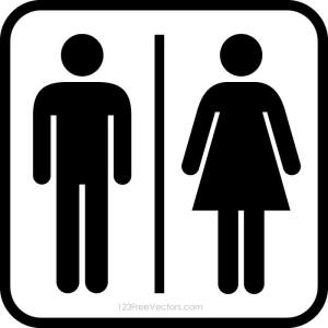 Male Female Restroom Symbols