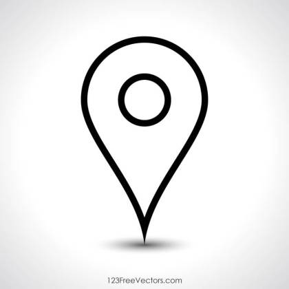 Navigation Pin Icon