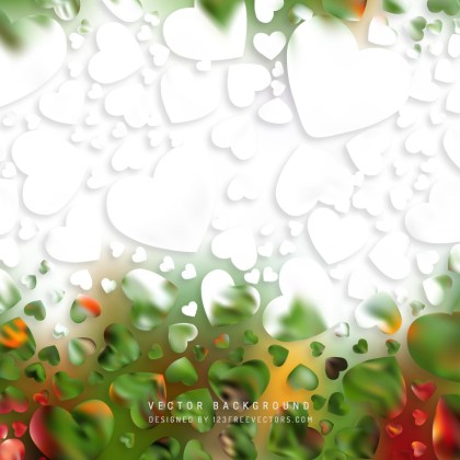 Abstract Romantic Hearts Background