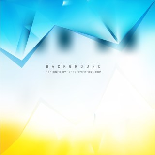 Abstract Blue Orange Triangle Polygonal Background Design