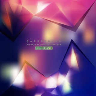 Abstract Dark Color Triangle Polygonal Background