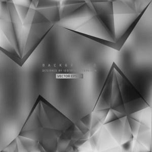 Dark Gray Triangular Background Design