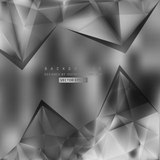 Dark Gray Triangular Background Design