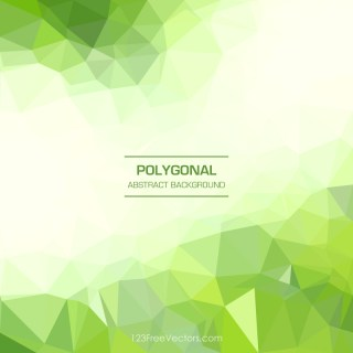Light Green Abstract Low Poly Background Template