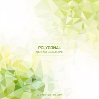 Polygonal Yellow Green Background Template