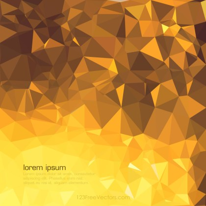 Dark Golden Brown Geometric Polygon Background Graphics