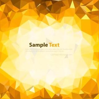 Light Golden Brown Low Poly Background Design