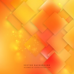 Abstract Yellow Orange Square Background Design