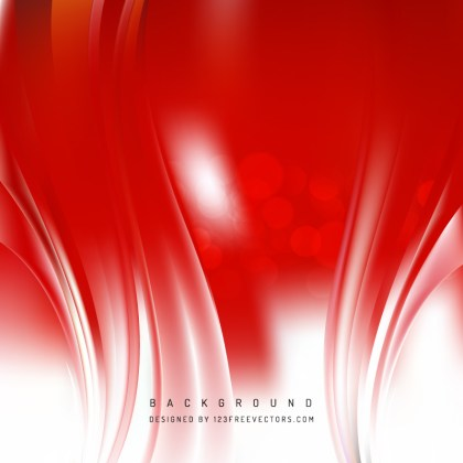 Red Wave Background Template