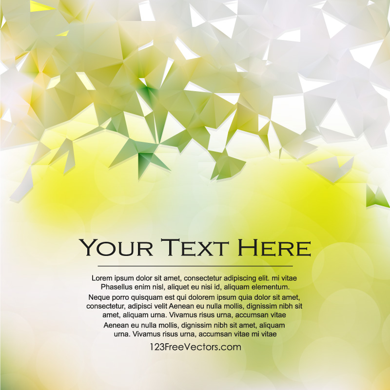 Light Color Triangle Polygonal Background