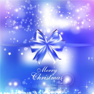 Blue Purple Christmas Bow Background Graphics