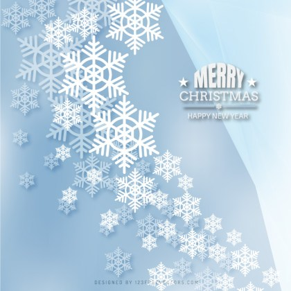 Light Color Christmas Snowflakes Background Design