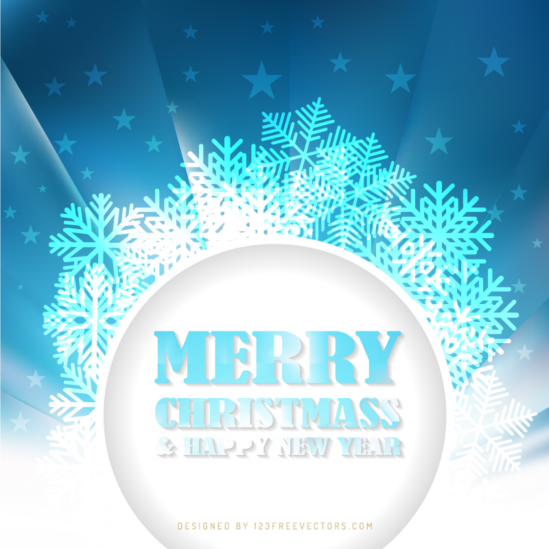 Merry Christmas and Happy New Year Banner Background Image
