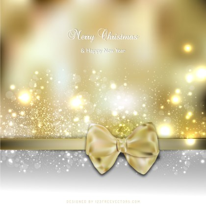 Christmas Greeting Card Bow Background Graphics