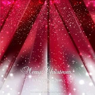 Red Sparkles Christmas Background Design