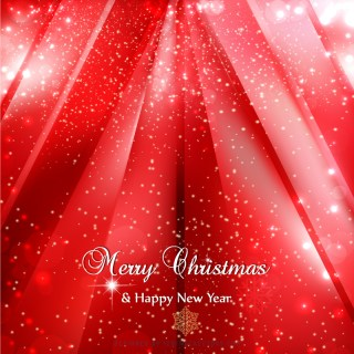 Red Sparkles Christmas Background Image
