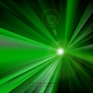 Abstract Black Green Light Rays Background