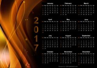 Graphic Design Calendar 2017