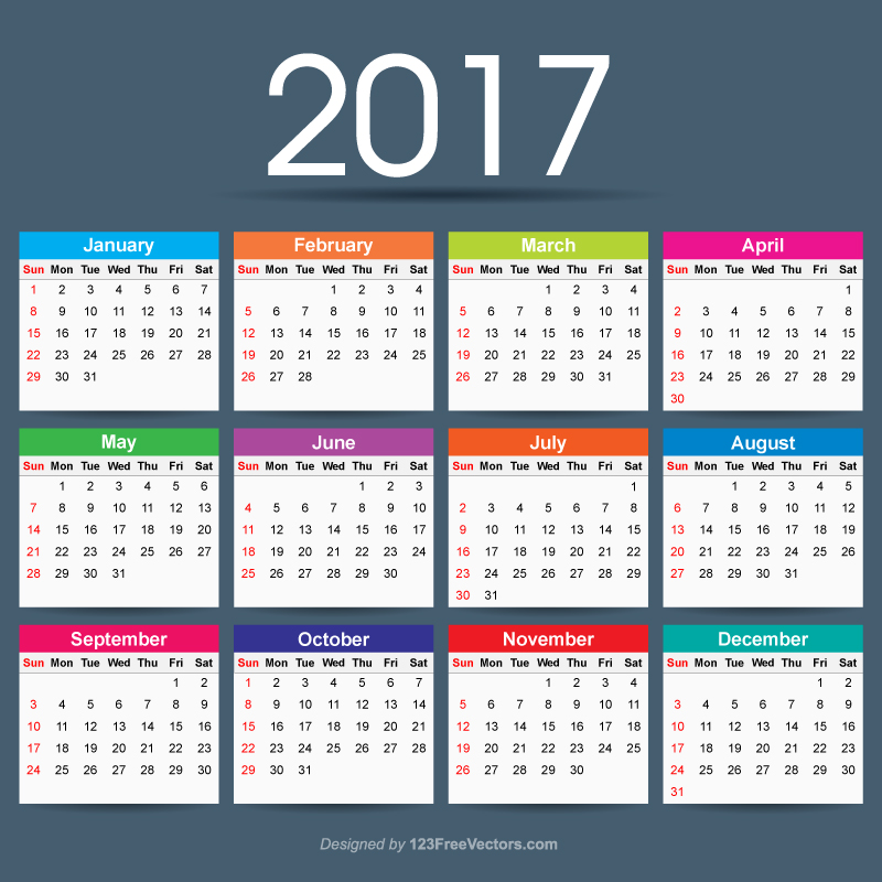 2017 Calendar Ai