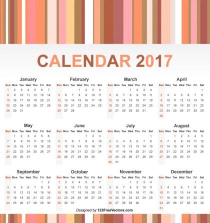 Free 2017 Year Calendar