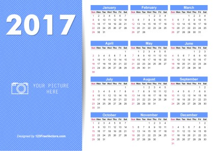 Printable 2017 Calendar Illustrator