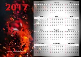 Calendar 2017 Vector Design
