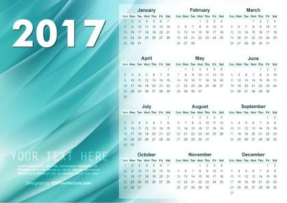 Illustrator 2017 Calendar Template