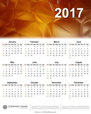 2017 Wall Calendar Template