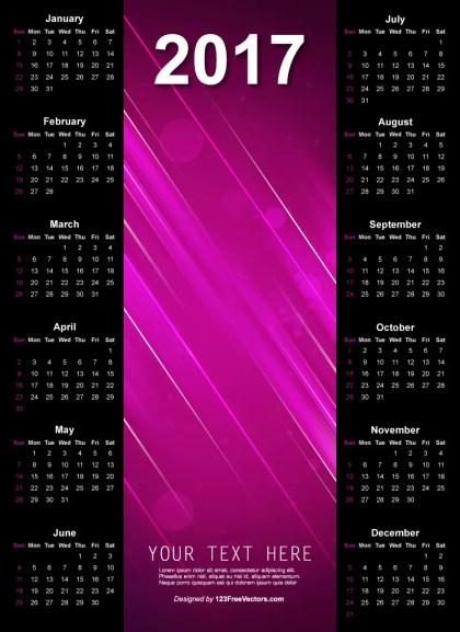 2017 Wall Calendar Design