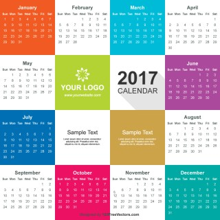 2017 Calendar Vector Free Download