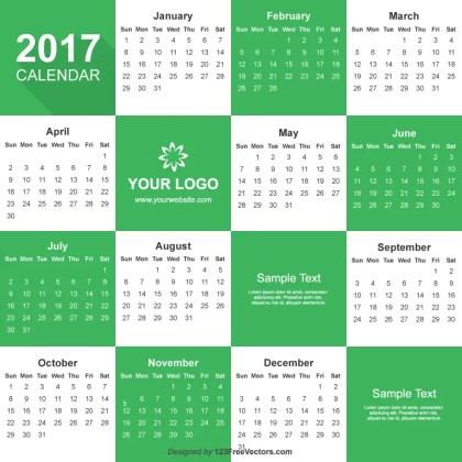 2017 Calendar Illustrator