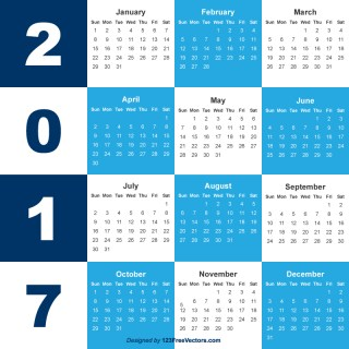 2017 Calendar Template Free Download