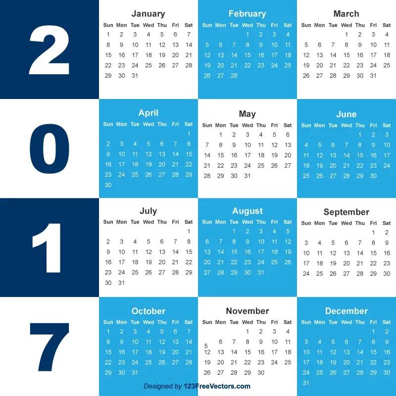 2017 Calendar Template Free Download
