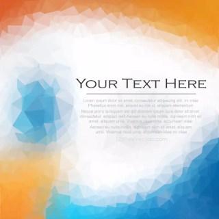 Blue Orange Polygonal Background Clip Art